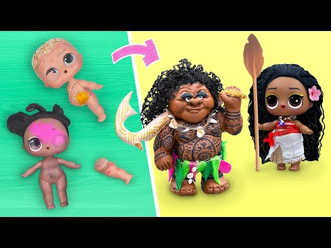 Never Too Old For Dolls! 6 Moana LOL Surprise DIYs