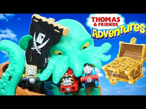 THOMAS AND FRIENDS ADVENTURES SEA MONSTER PLAYSET SALTY PIRATES AND TREASURE