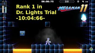 Mega Man 11, Rank 1 in the Dr. Light's Trial with a time of 10:04:66 | PS4