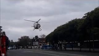 MBB BO-105CBS-4 LV-CVE de UTV Aero Emergencias en el HECA de Rosario 30-06-2020