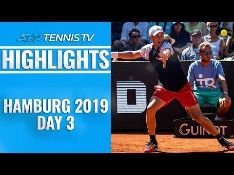 Thiem Marches On As Basilashvili, Rublev And Chardy Win | Hamburg 2019 Highlights Day 3