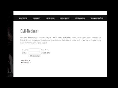 bmi rechner bmi berechnen youtube. Black Bedroom Furniture Sets. Home Design Ideas