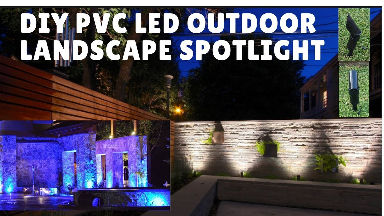 Diy Pvc Led Landscape Spotlight