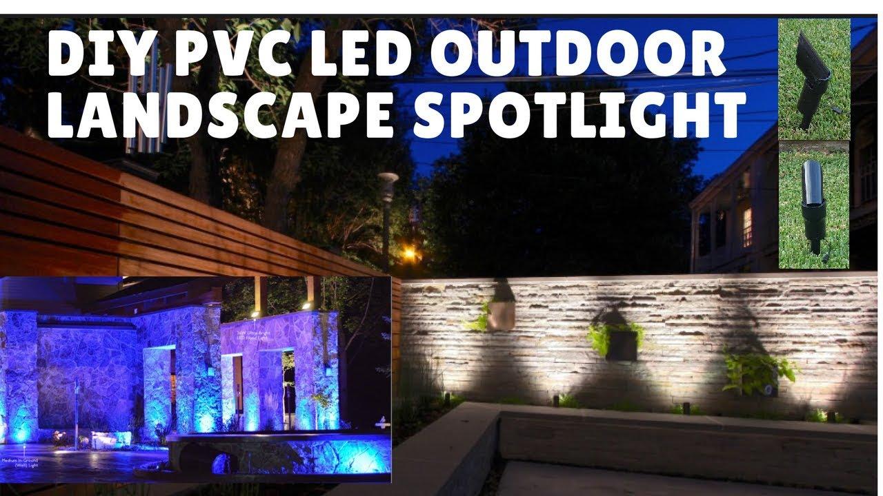 DIY PVC LED Landscape SpotLight  sc 1 st  YouTube & DIY PVC LED Landscape SpotLight - YouTube