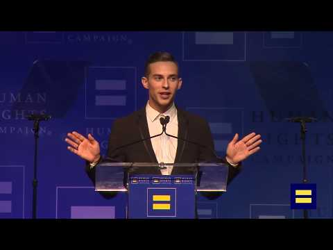 Adam Rippon Receives HRC Visibility Award, Presented by Gus Kenworthy