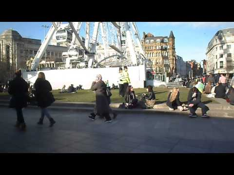 The Wheel Of Manchester And Piccadilly Gardens