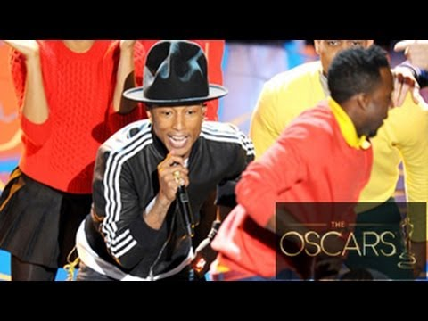 Pharrell Williams Performs 'Happy' At Oscars 2014 - YouTube