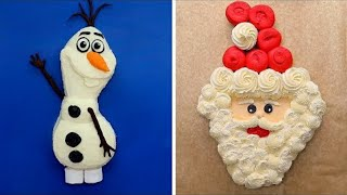 14 Frozen and Christmas Themed Cake Ideas