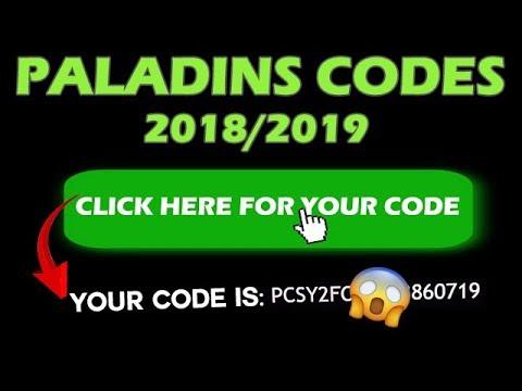 PALADINS CODES GIVEAWAY (2018/2019) 0 PC,PS4,XBOX MAC