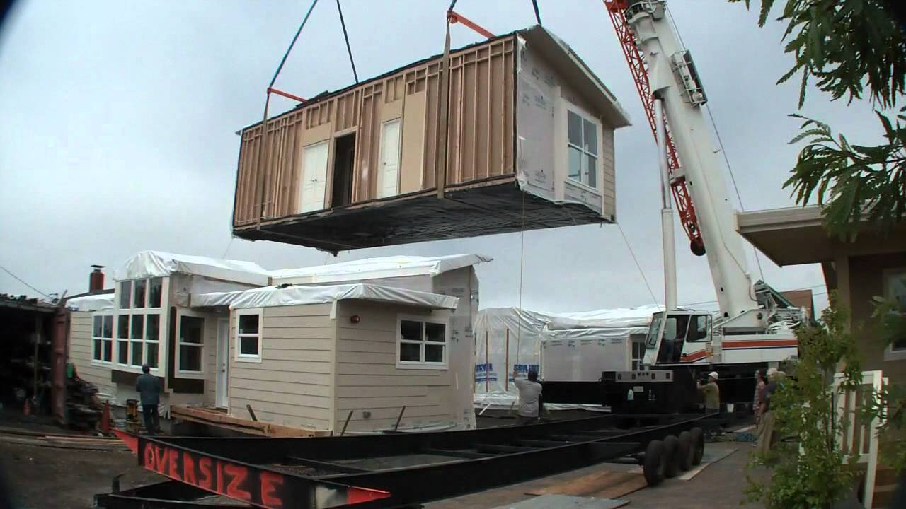 Modular Homes Half Moon Bay, CA - raw video Home Set - YouTube