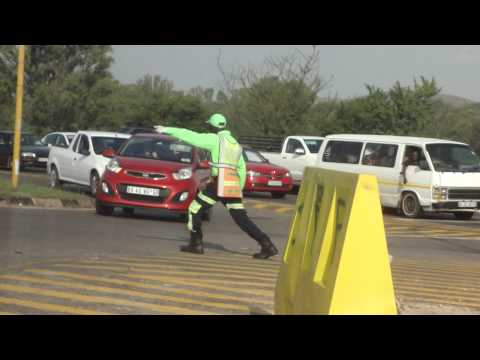 Funny traffic cop par excellence in Pretoria, Republic of South Africa