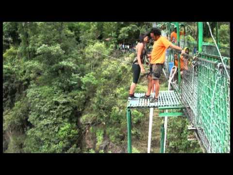 Puja's bungy jump (Nepal-The Last Resort)