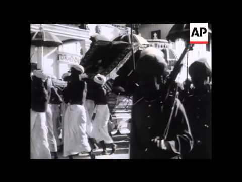 Maharaja's Birthday Marked By Pageant In Travancore.