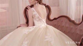 Свадебное платье цвета капучино от VESILNA™ модель 3013