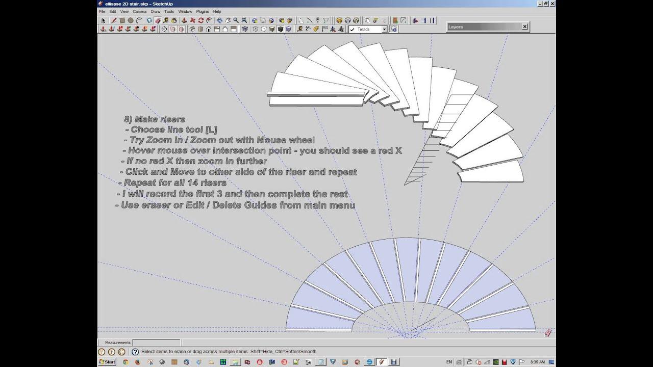 Elliptical Stair Tutorial Youtube