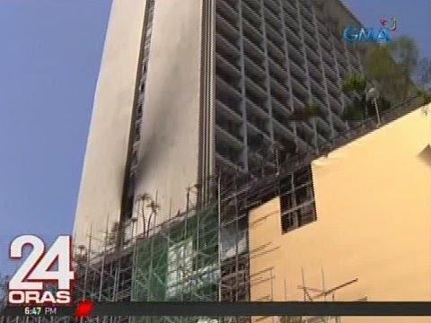 24 Oras: Arson, isa sa tinitingnang anggulo sa sunog sa Manila Pavilion Hotel and Casino