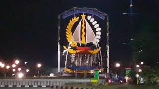 Dompak Sebagai Pusat Pemerintahan Provinsi Kepulauan Riau di Malam Hari • Wisata Tanjung Pinang