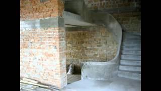 Бетонная лестница криволинейная с забежными ступенями и ограждением(, 2013-09-05T19:28:40.000Z)