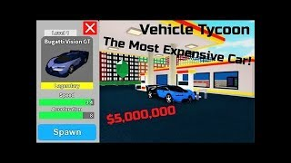 Buying The Bugatti Vision GT | Roblox Vehicle Tycoon