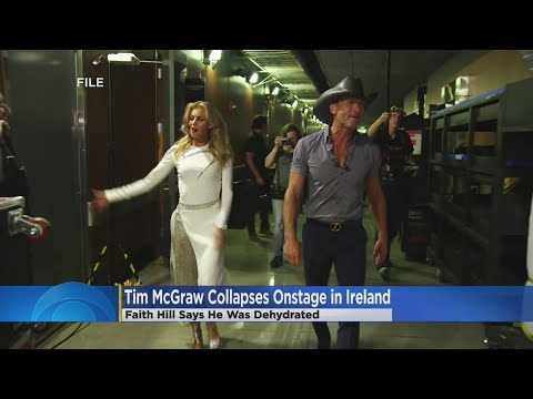 Tim McGraw Collapses On Stage; Faith Hill Responds