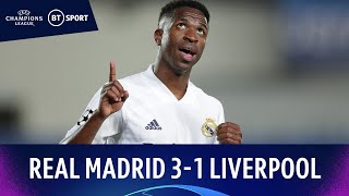 Real Madrid v Liverpool (3-1) | Vinicius Double Secures First-leg Win! | Champions League Highlights