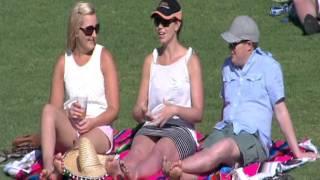 Girl imitating sex at the cricket