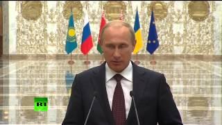 Путин: Россия не может выдвигать условий по урегулированию ситуации на Украине(, 2014-08-26T23:09:34.000Z)