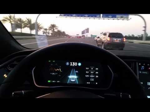 Tesla on Autopilot in Abu Dhabi