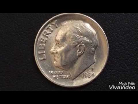 No 8589 Dime Coin In a Protective 2x2 1984-D