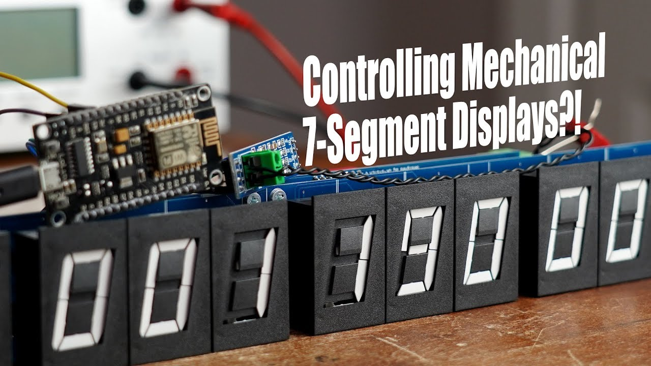 Controlling Mechanical 7-Segment Displays?! How RS-485 and