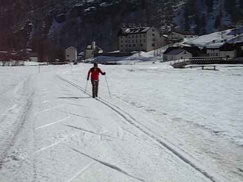 Cross country skiing in Alpe Devero Italy 2008