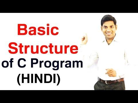 Basic Structure of C Program (HINDI)