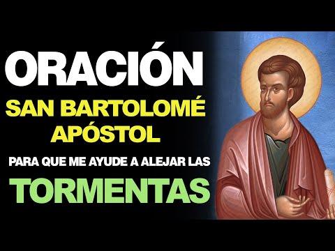 🙏 Oración Poderosa a San Bartolomé Apóstol PARA ALEJAR LAS TORMENTAS 🙇️