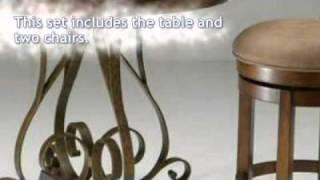 Carmel Wood Pub Table Set - Pastel Furniture