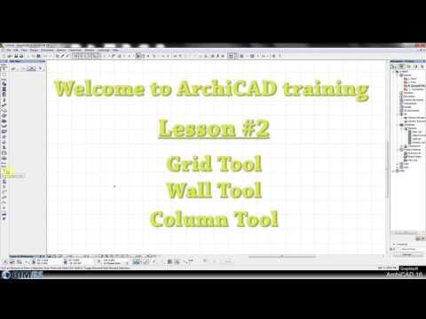 Lesson 02  Grid, Wall & Column Tool - Arabic