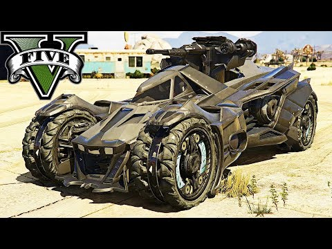 GTA 5 - Khi Batman sử dụng siêu xe Batmobile đi quậy phá khu quân đội | ND Gaming