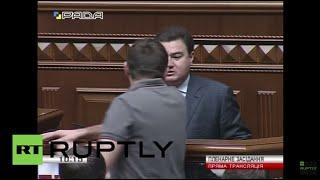 Ukraine: Rada brawl after MP calls Right Sector an