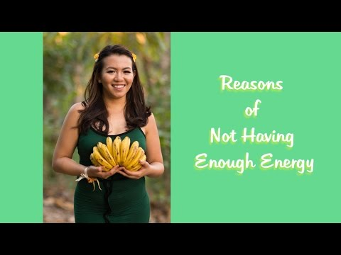 5 Simple Reasons of Not Having Enough Energy