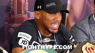 ANTHONY JOSHUA AND JOSEPH PARKER DISCUSS STRATEGY DIFFERENCES; GIVE FIRST TAKE ON EACH OTHER