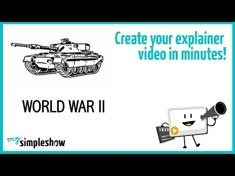 Find out about World War 2 in this short explainer video.                                 Create your own video with mysimpleshow.com