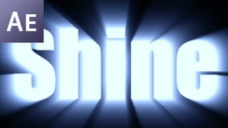 After Effects Tutorial: Shine Through Text Effect  -HD-