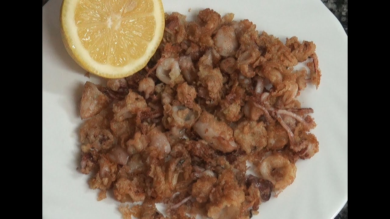 Puntillitas calamares chiquititos v deo receta 149 aqu for Cocinar calamares pequenos