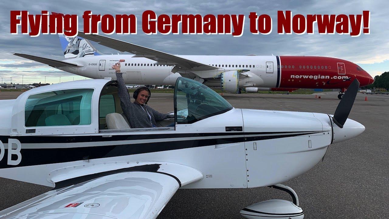 Flying over Norwegian Fjords - Ferry flight through Europe!