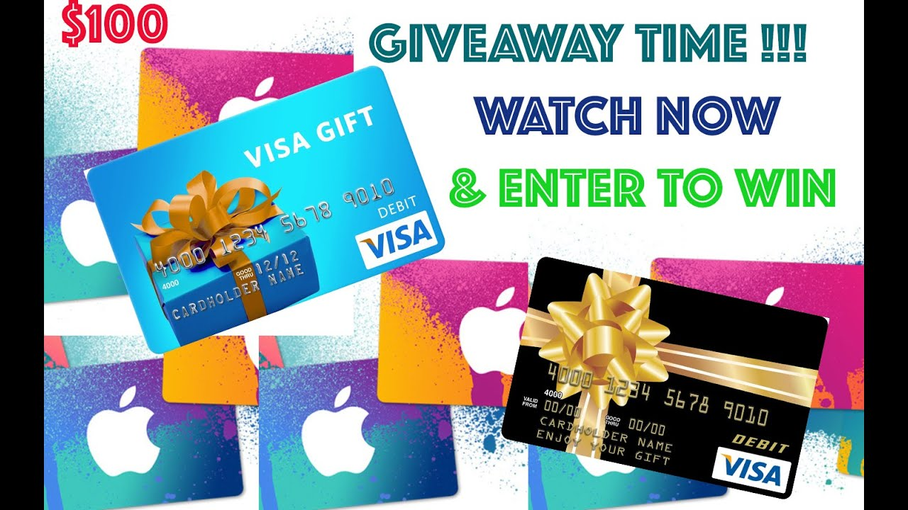 Apple Store Visa Gift Card Giveaway Youtube
