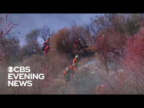 California firefighters battling dry conditions, relentless winds to contain deadly fires