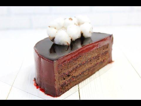 ШОКОЛАДНЫЙ БИСКВИТНЫЙ ТОРТ с зеркальной глазурью / CHOCOLATE SPONGE CAKE