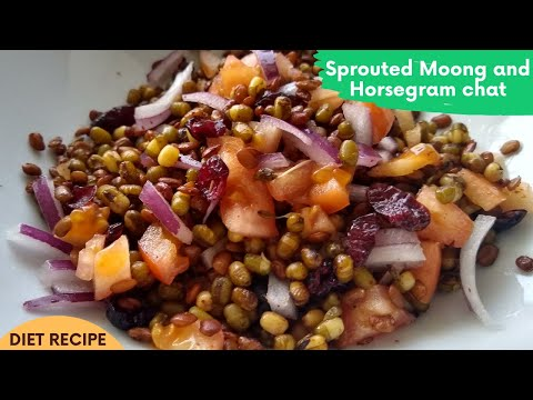 Healthy and Tasty Sprouted Moong and Horsegram Chat For Weightloss | Diet Recipe | #shorts