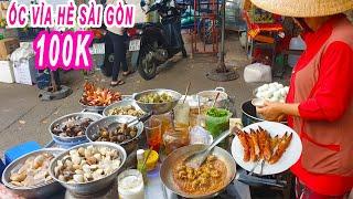 Choáng với Dĩa Ốc 100k trên vỉa hè Chợ Bàu Sen Sài Gòn