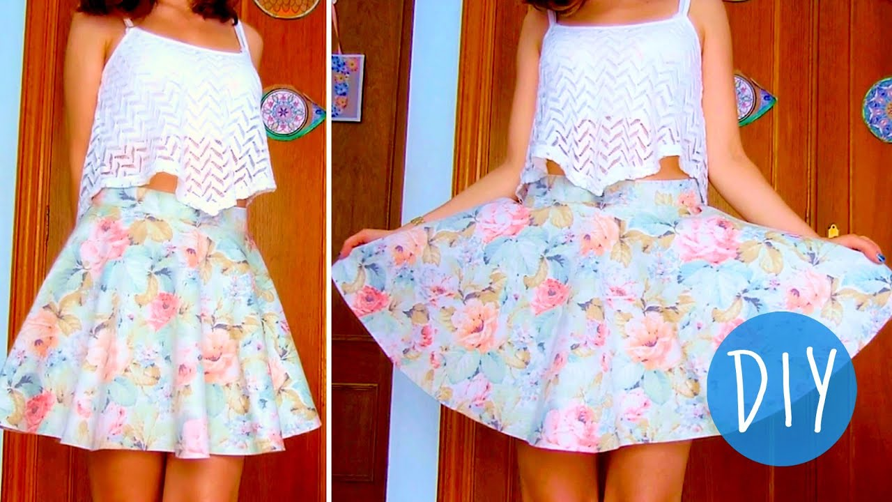 Image Result For How To Sew A Circle Skirt With An Elastic Waist