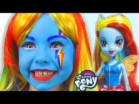 Alice Smile As A Rainbow Dash My Little Pony Play With Doll Equestria Girl
